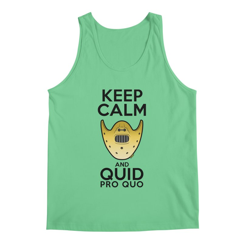 Keep calm and quid pro quo Men's Regular Tank by mrdelman's Artist Shop