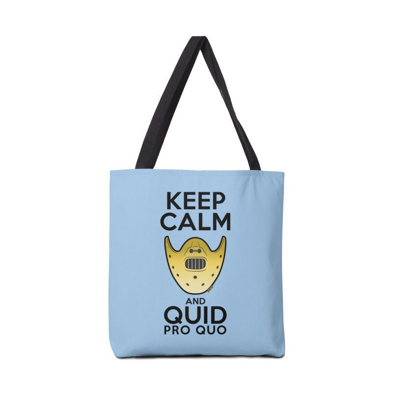 Keep calm and quid pro quo Accessories Tote Bag Bag by mrdelman's Artist Shop