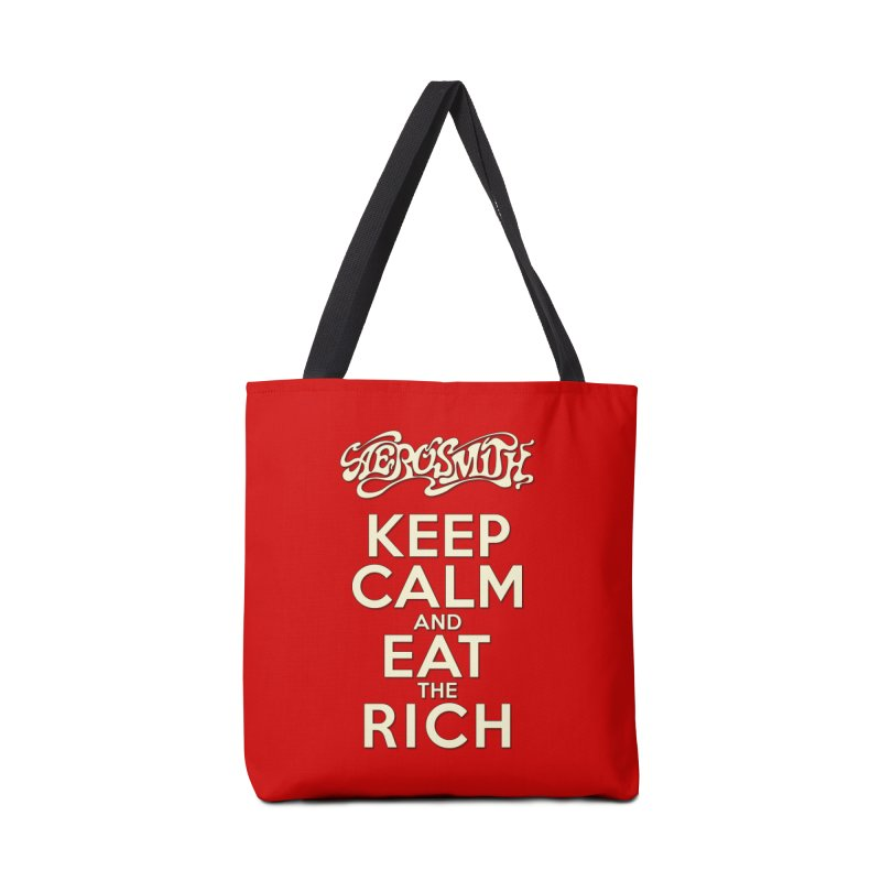 Aerosmith - Keep Calm and Eat the Rich Accessories Tote Bag Bag by mrdelman's Artist Shop