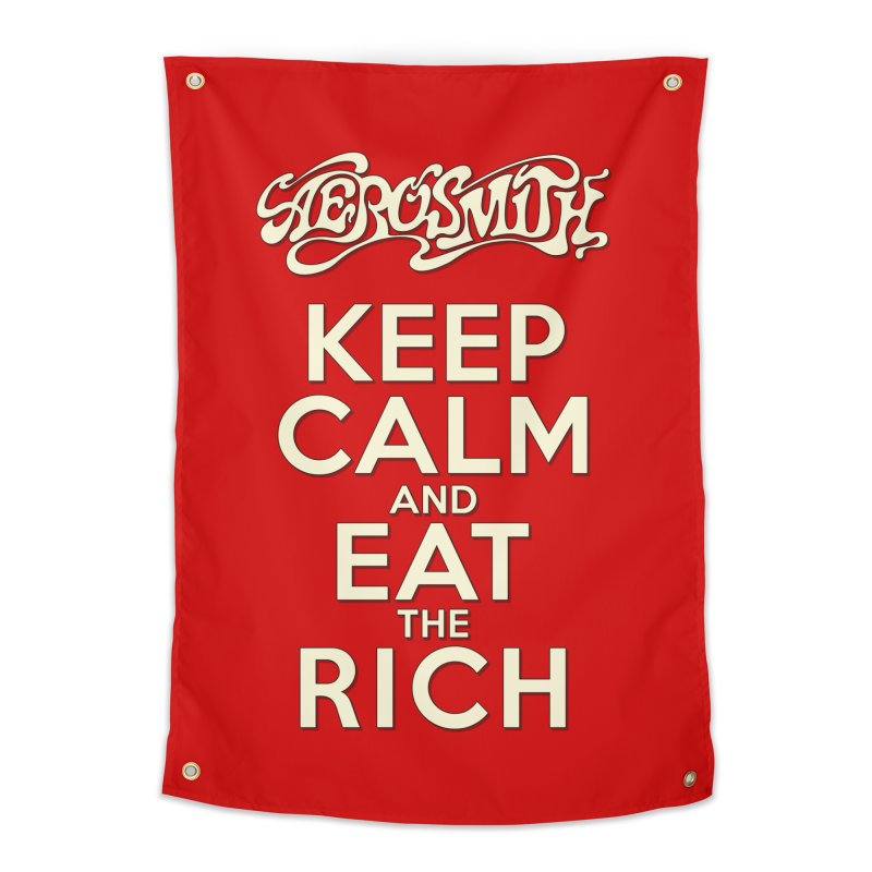 Aerosmith - Keep Calm and Eat the Rich Home Tapestry by mrdelman's Artist Shop