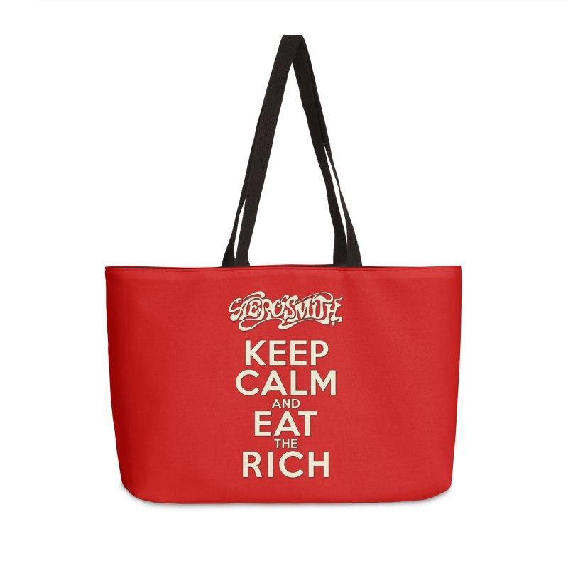 Aerosmith - Keep Calm and Eat the Rich Accessories Weekender Bag Bag by mrdelman's Artist Shop
