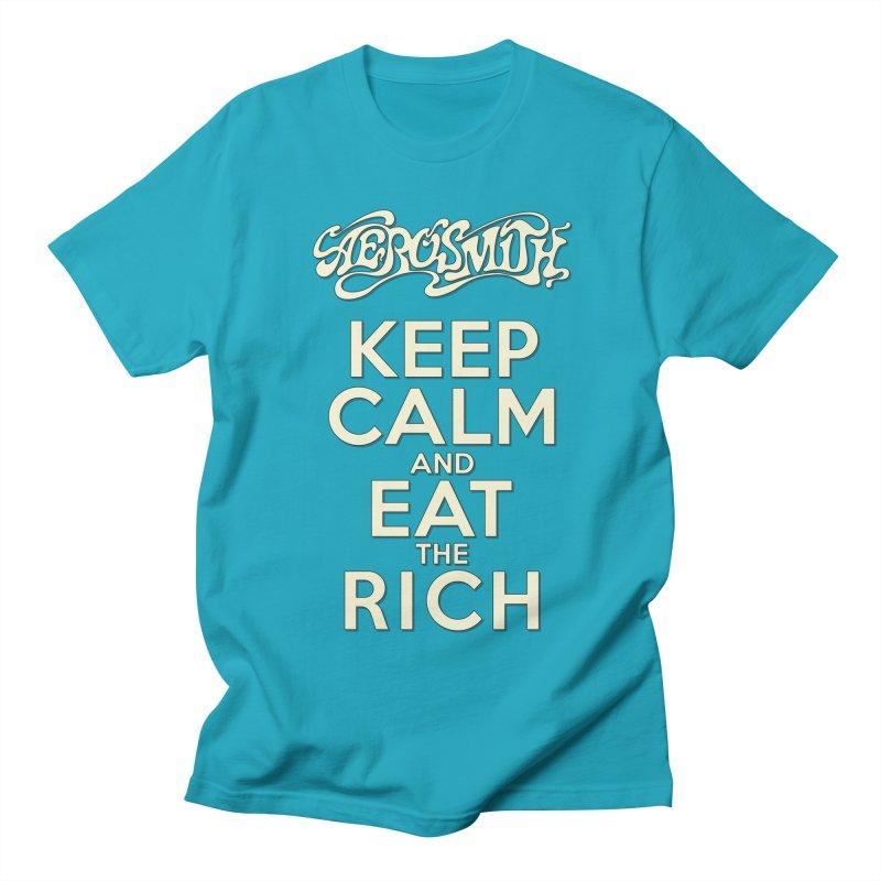 Aerosmith - Keep Calm and Eat the Rich Men's Regular T-Shirt by mrdelman's Artist Shop