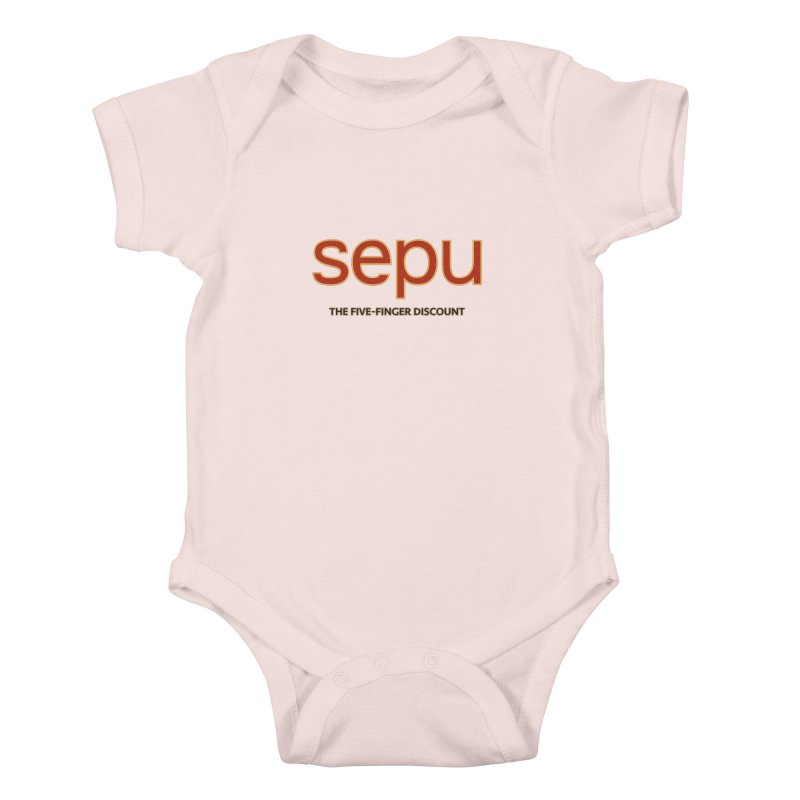 SEPU, your favorite spanish shopping mall Kids Baby Bodysuit by mrdelman's Artist Shop
