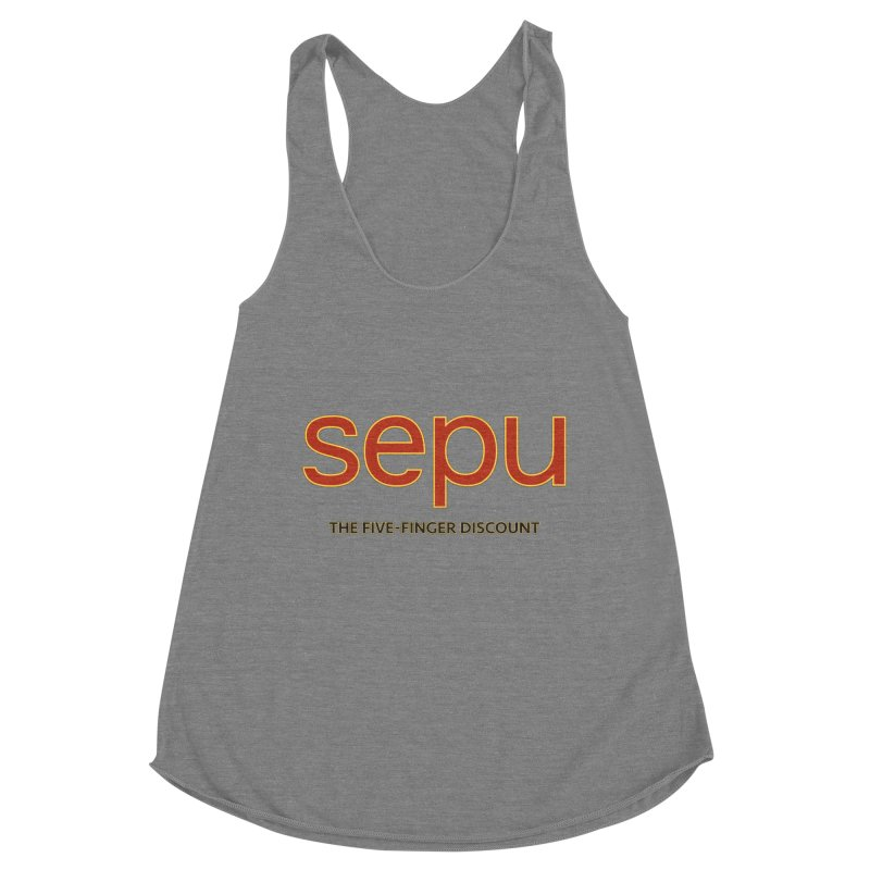 SEPU, your favorite spanish shopping mall Women's Racerback Triblend Tank by mrdelman's Artist Shop