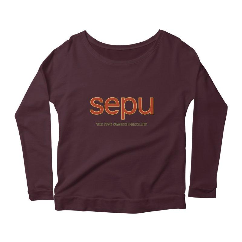 SEPU, your favorite spanish shopping mall Women's Longsleeve Scoopneck  by mrdelman's Artist Shop