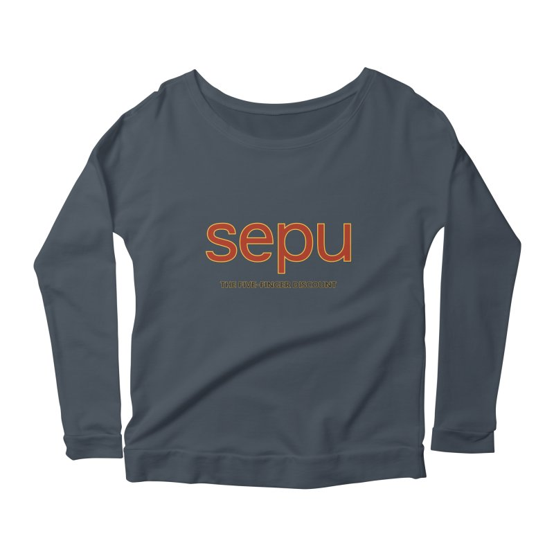 SEPU, your favorite spanish shopping mall Women's Scoop Neck Longsleeve T-Shirt by mrdelman's Artist Shop