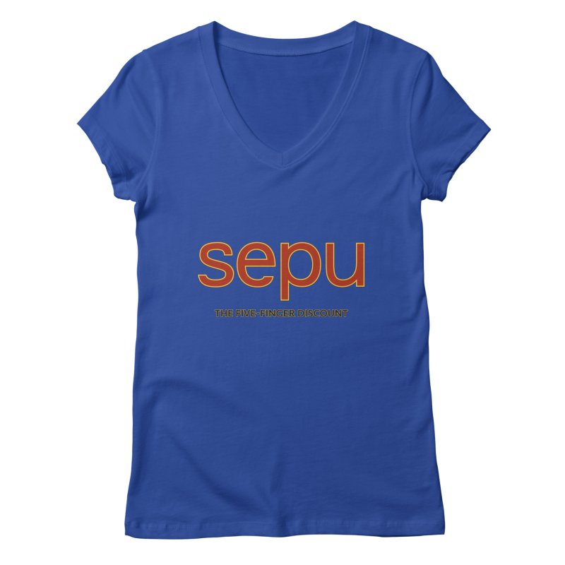 SEPU, your favorite spanish shopping mall Women's Regular V-Neck by mrdelman's Artist Shop