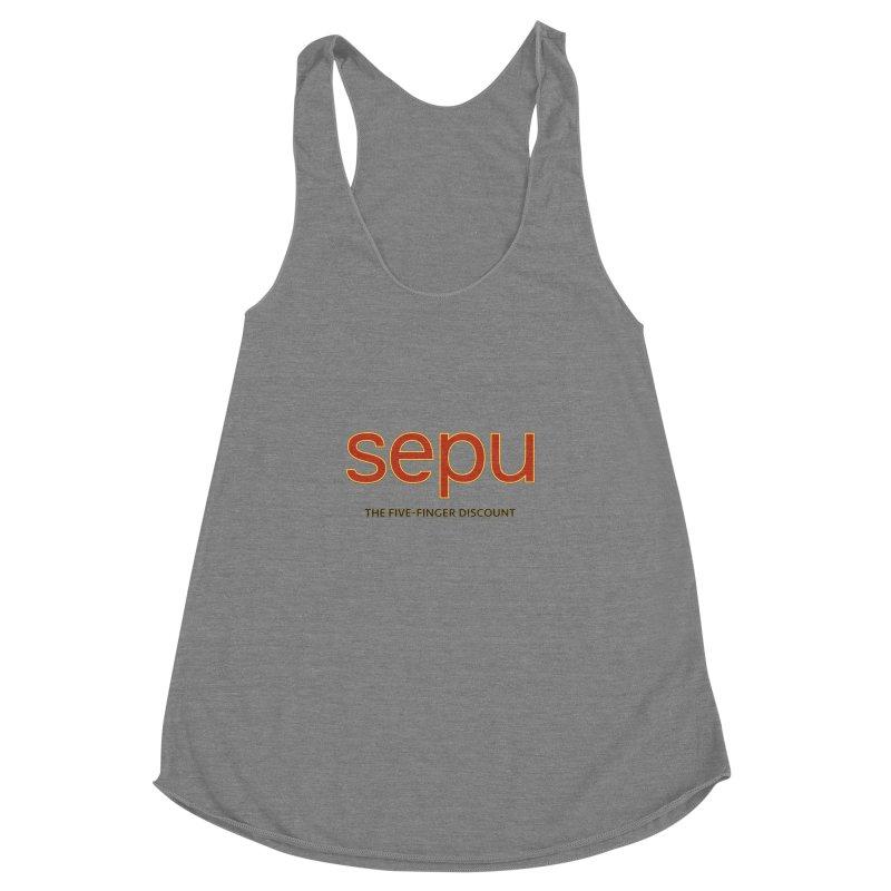SEPU, your favorite spanish shopping mall Women's Racerback Triblend Tank by mrdelman's Artist Shop