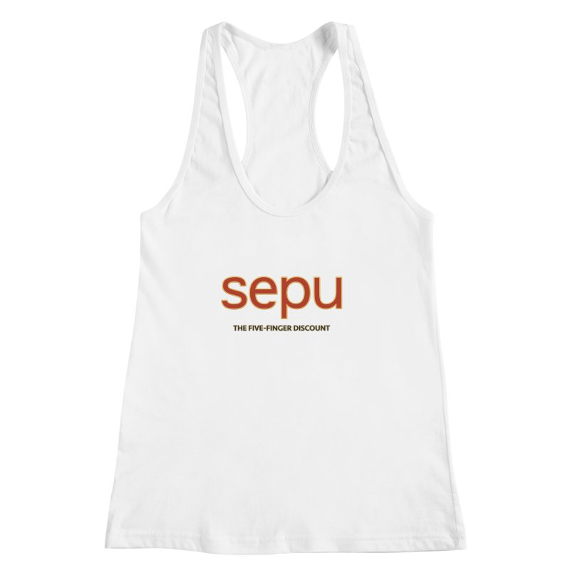 SEPU, your favorite spanish shopping mall Women's Racerback Tank by mrdelman's Artist Shop