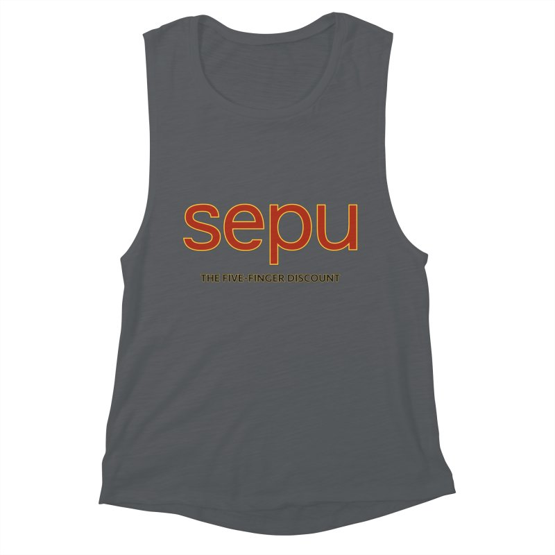 SEPU, your favorite spanish shopping mall Women's Muscle Tank by mrdelman's Artist Shop