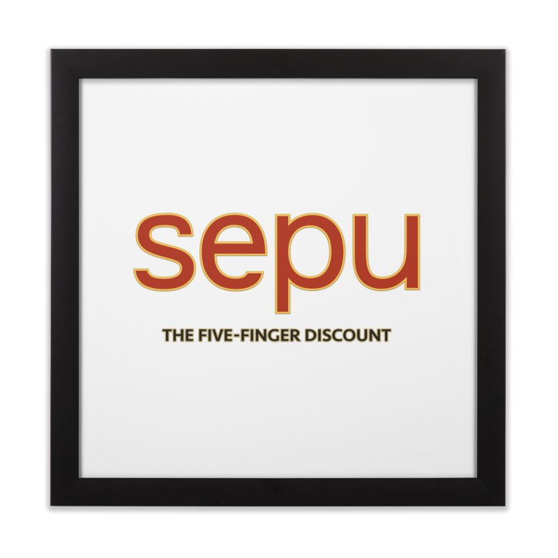 SEPU, your favorite spanish shopping mall Home Framed Fine Art Print by mrdelman's Artist Shop