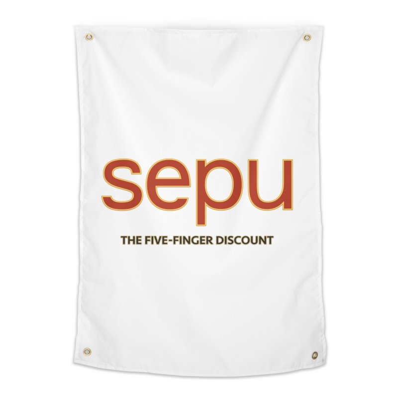 SEPU, your favorite spanish shopping mall Home Tapestry by mrdelman's Artist Shop
