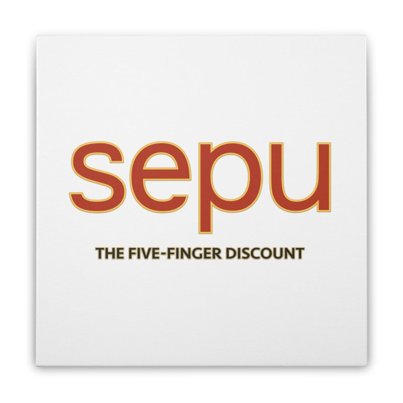 SEPU, your favorite spanish shopping mall Home Stretched Canvas by mrdelman's Artist Shop