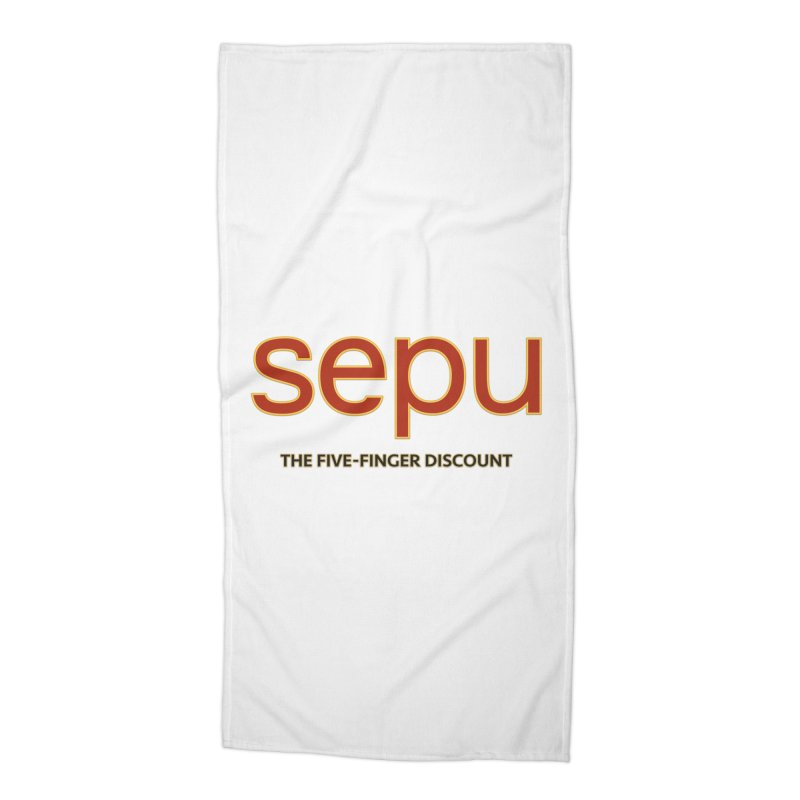 SEPU, your favorite spanish shopping mall Accessories Beach Towel by mrdelman's Artist Shop