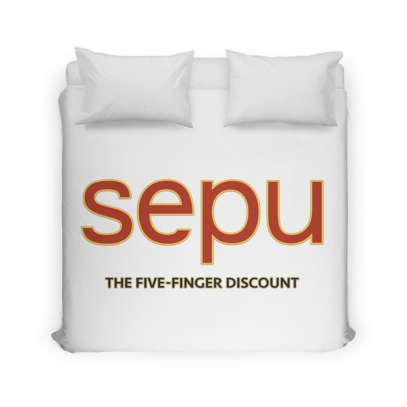 SEPU, your favorite spanish shopping mall Home Duvet by mrdelman's Artist Shop