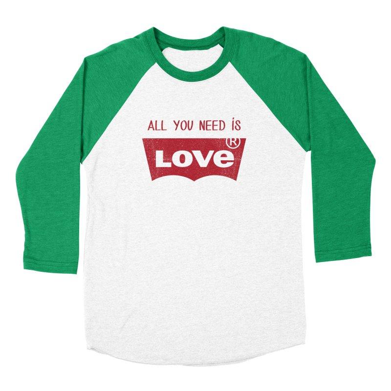 All you need is LOVE ® Women's Baseball Triblend Longsleeve T-Shirt by mrdelman's Artist Shop