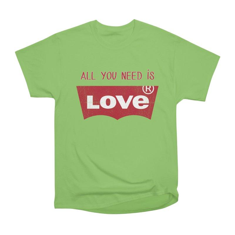 All you need is LOVE ® Men's Heavyweight T-Shirt by mrdelman's Artist Shop