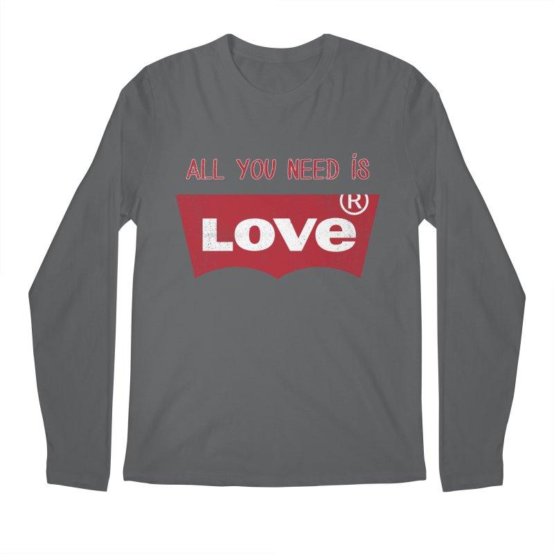 All you need is LOVE ® Men's Longsleeve T-Shirt by mrdelman's Artist Shop