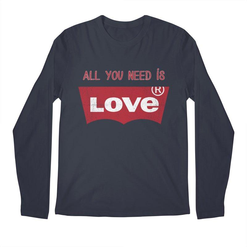 All you need is LOVE ® Men's Regular Longsleeve T-Shirt by mrdelman's Artist Shop