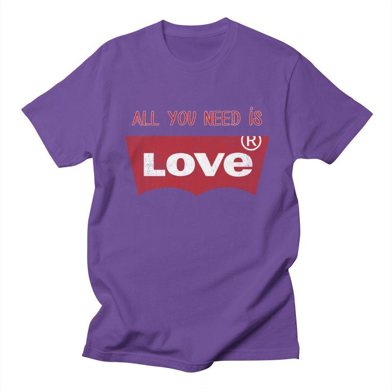 All you need is LOVE ® Women's Regular Unisex T-Shirt by mrdelman's Artist Shop