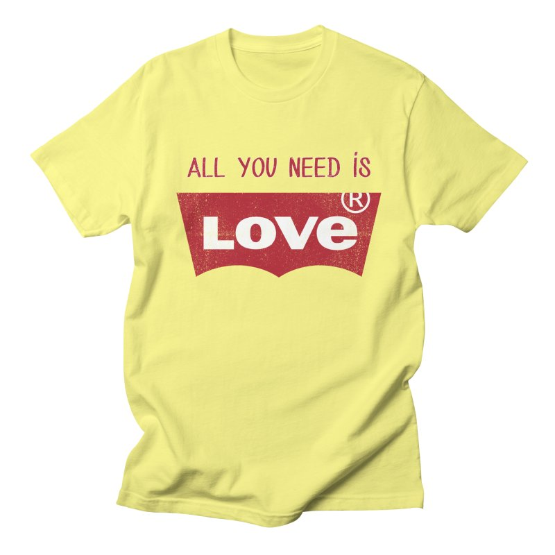 All you need is LOVE ® Men's Regular T-Shirt by mrdelman's Artist Shop