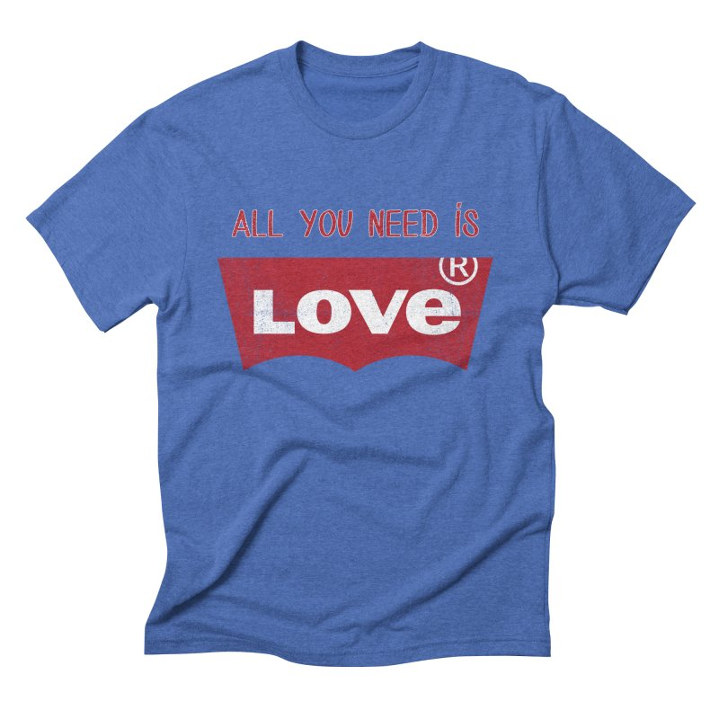 All you need is LOVE ® Men's T-Shirt by mrdelman's Artist Shop
