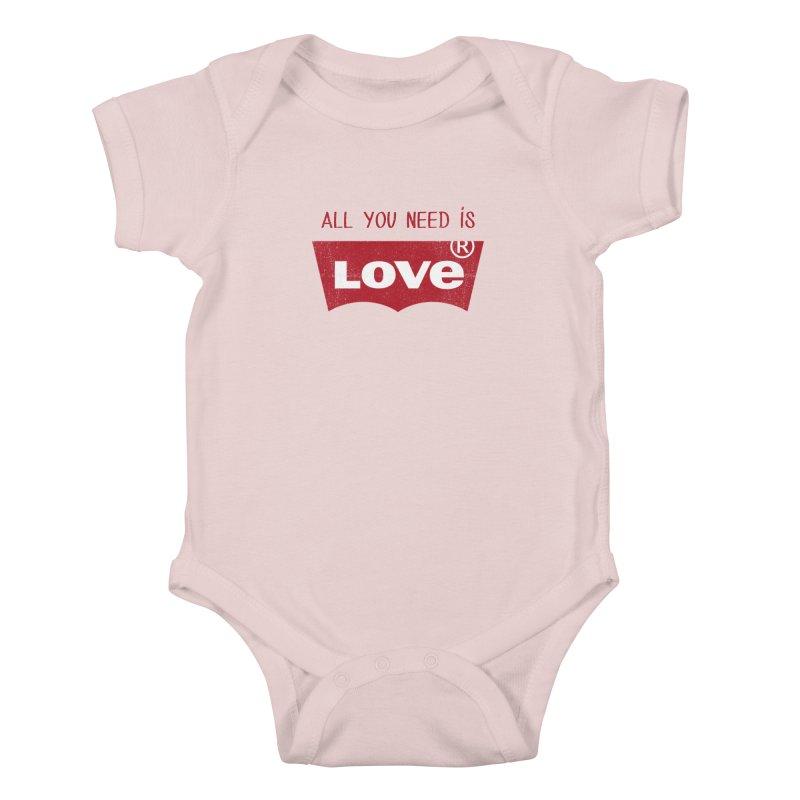 All you need is LOVE ® Kids Baby Bodysuit by mrdelman's Artist Shop