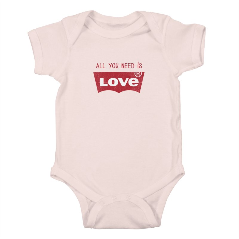 All you need is LOVE ® Kids Baby Bodysuit by mrdelman's Artist Shop