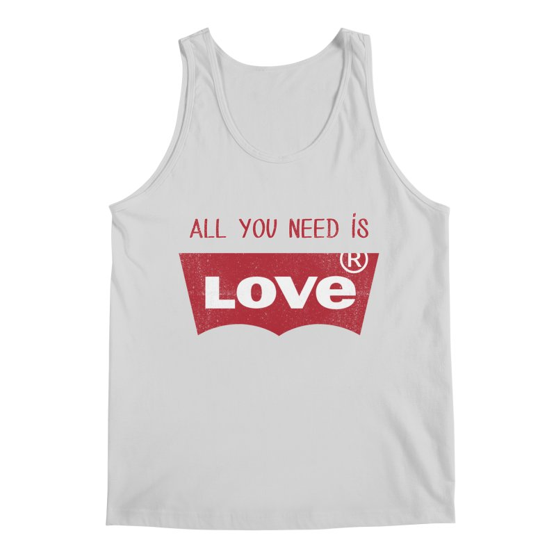 All you need is LOVE ® Men's Regular Tank by mrdelman's Artist Shop