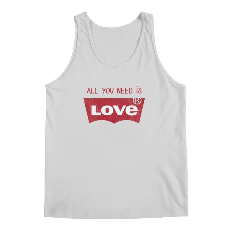 All you need is LOVE ® Men's Regular Tank by mrdelman's Artist Shop