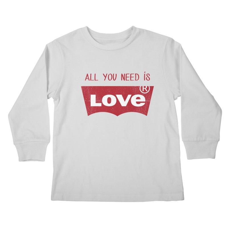 All you need is LOVE ® Kids Longsleeve T-Shirt by mrdelman's Artist Shop