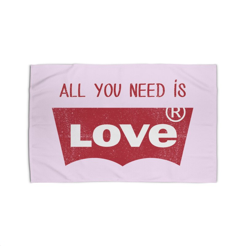 All you need is LOVE ® Home Rug by mrdelman's Artist Shop