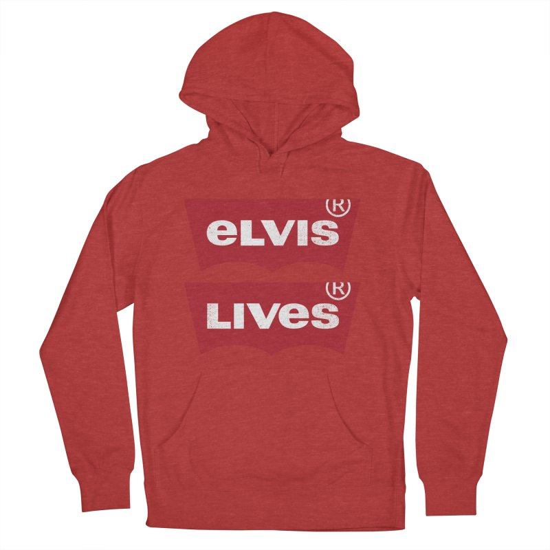 Elvis Lives! - (v2) Men's French Terry Pullover Hoody by mrdelman's Artist Shop