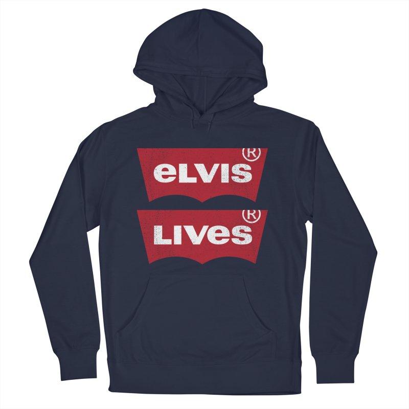 Elvis Lives! - (v2) Men's Pullover Hoody by mrdelman's Artist Shop