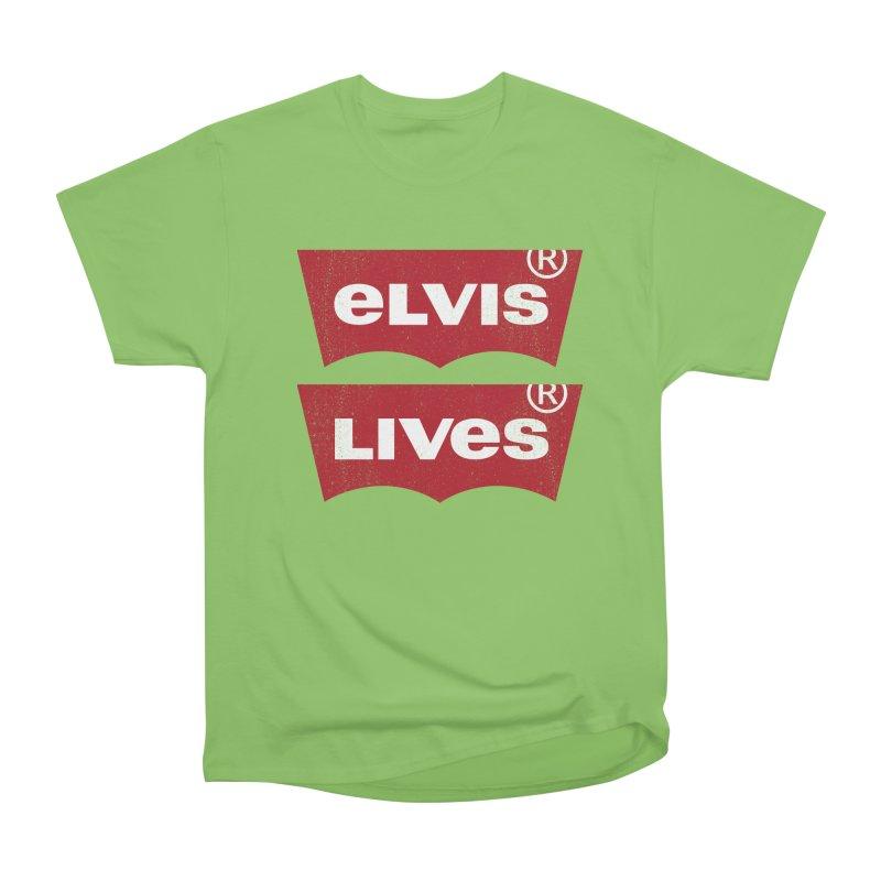 Elvis Lives! - (v2) Women's Heavyweight Unisex T-Shirt by mrdelman's Artist Shop
