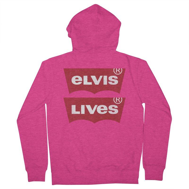 Elvis Lives! - (v2) Women's Zip-Up Hoody by mrdelman's Artist Shop