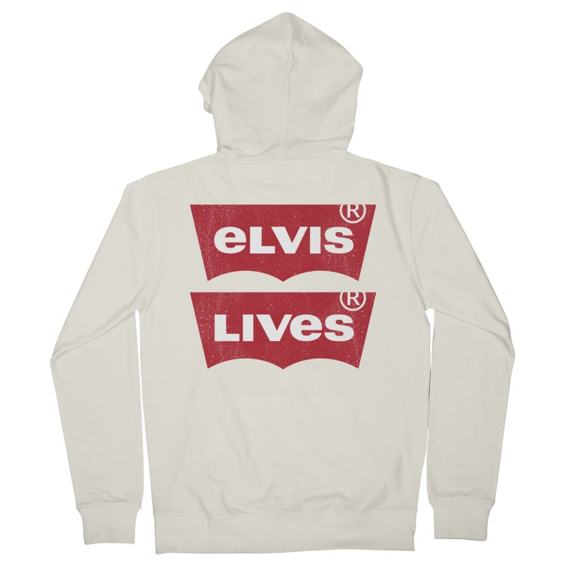 Elvis Lives! - (v2) Women's French Terry Zip-Up Hoody by mrdelman's Artist Shop
