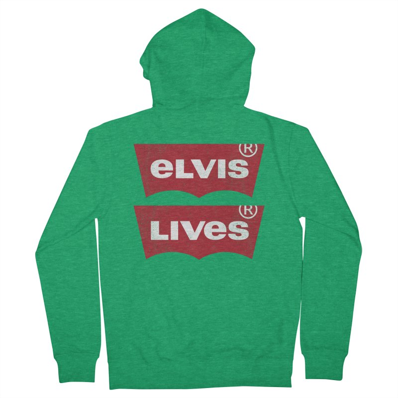 Elvis Lives! - (v2) Men's Zip-Up Hoody by mrdelman's Artist Shop