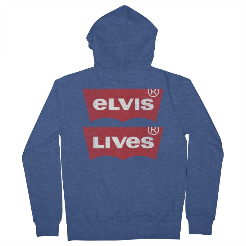 Elvis Lives! - (v2) Men's French Terry Zip-Up Hoody by mrdelman's Artist Shop