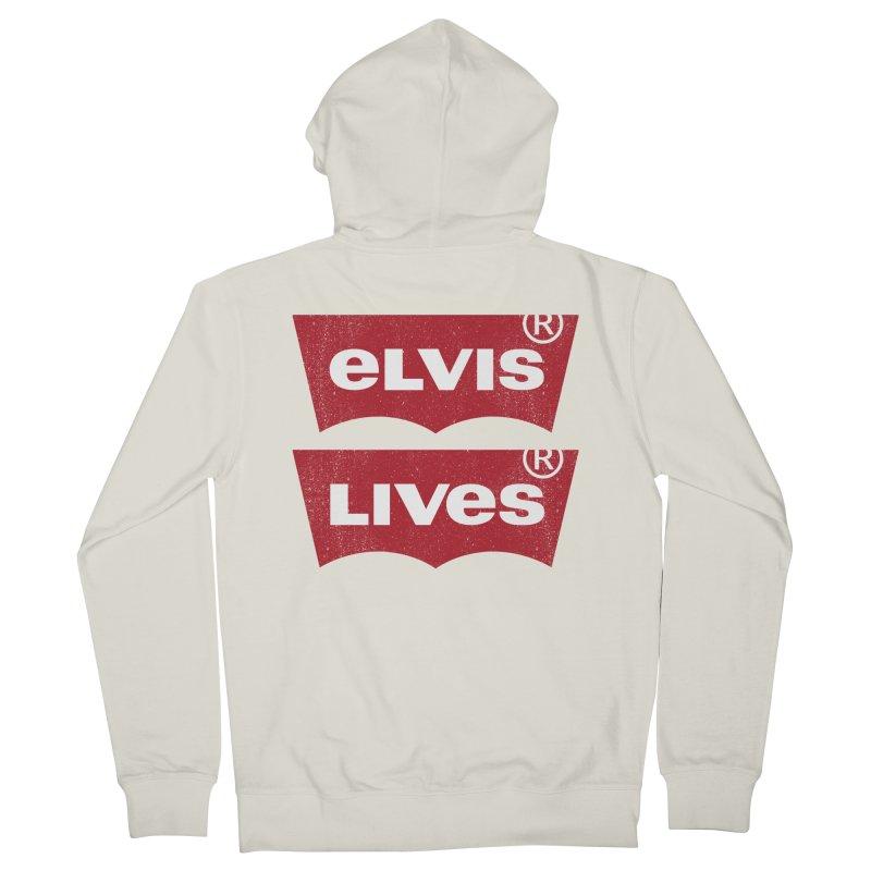 Elvis Lives! - (v2) Men's Zip-Up Hoody by mrdelman's Artist Shop