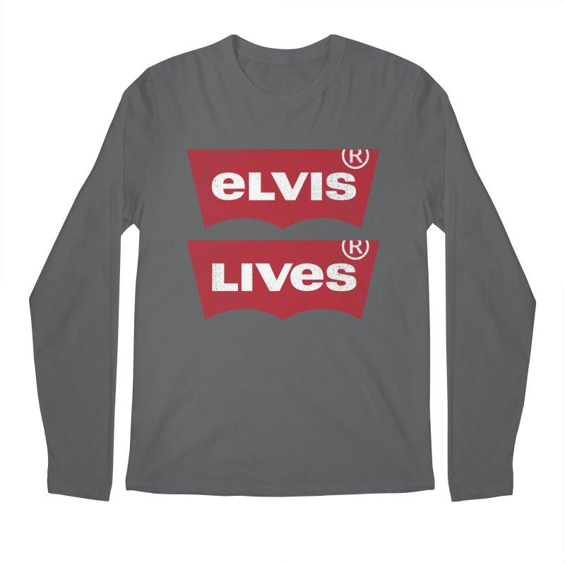 Elvis Lives! - (v2) Men's Longsleeve T-Shirt by mrdelman's Artist Shop