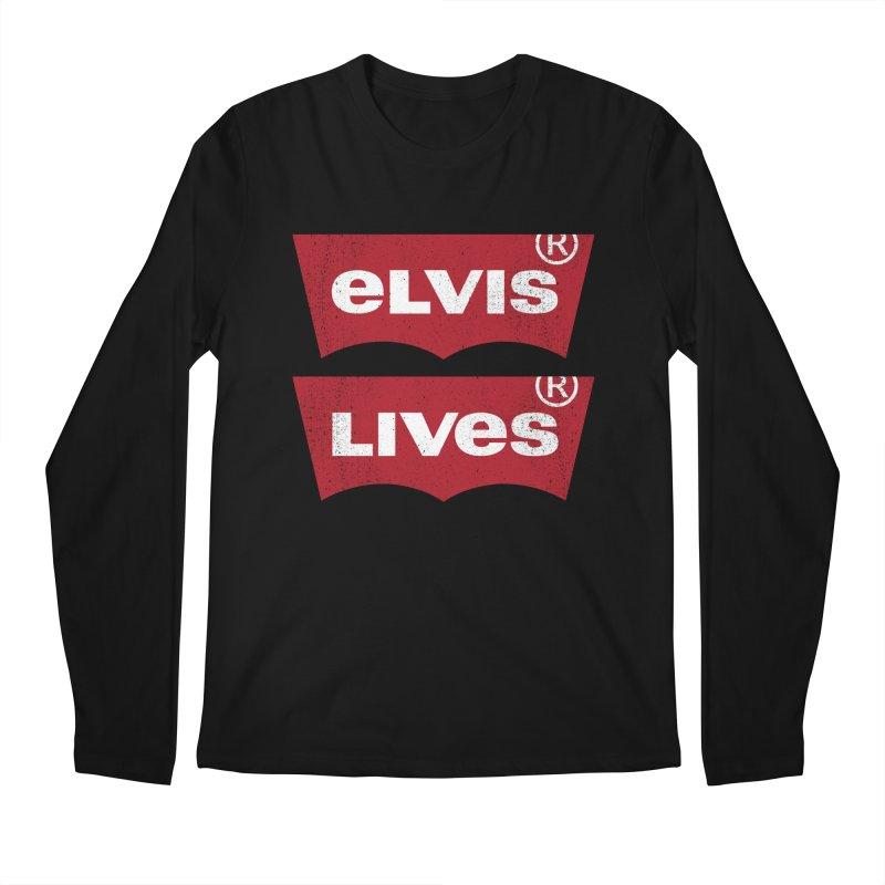 Elvis Lives! - (v2) Men's Regular Longsleeve T-Shirt by mrdelman's Artist Shop