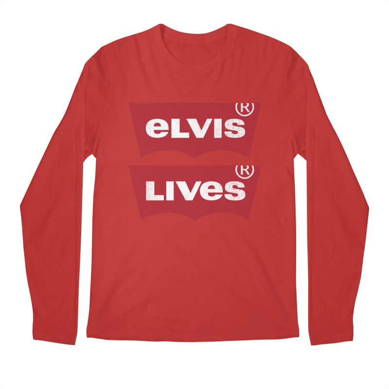 Elvis Lives! - (v2) Men's Regular Longsleeve T-Shirt by mrdelman's Artist Shop