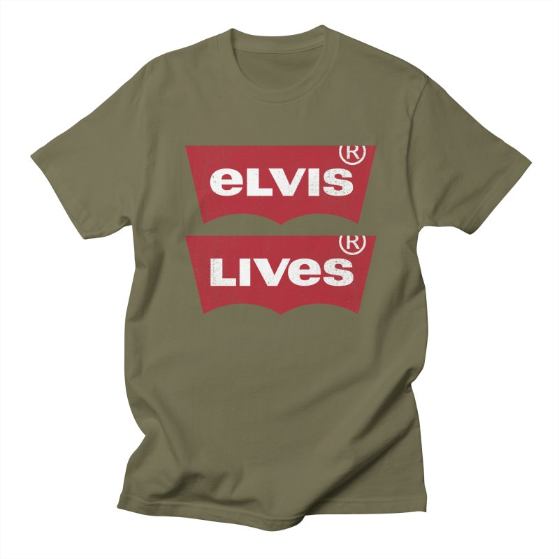 Elvis Lives! - (v2) Men's Regular T-Shirt by mrdelman's Artist Shop