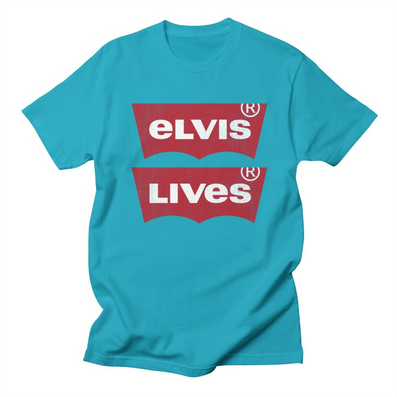Elvis Lives! - (v2) Women's Regular Unisex T-Shirt by mrdelman's Artist Shop
