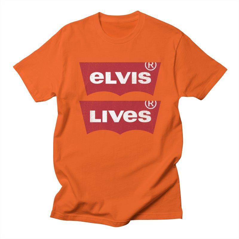 Elvis Lives! - (v2) Women's Unisex T-Shirt by mrdelman's Artist Shop