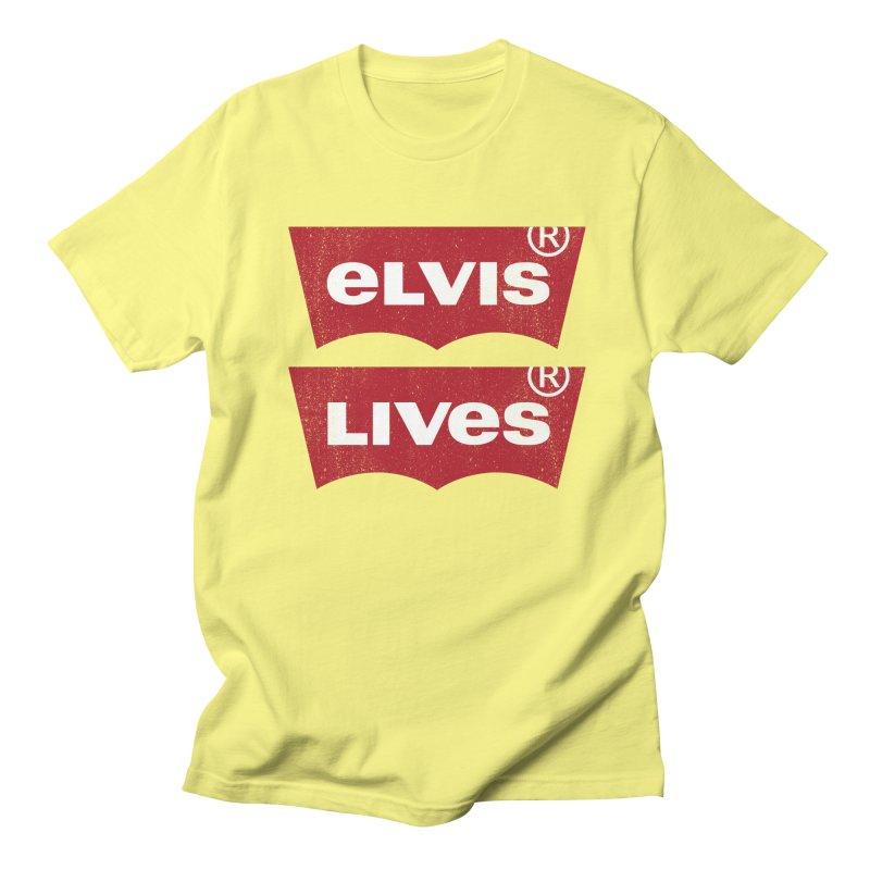 Elvis Lives! - (v2) Men's Regular T-Shirt by mrdelman's Artist Shop