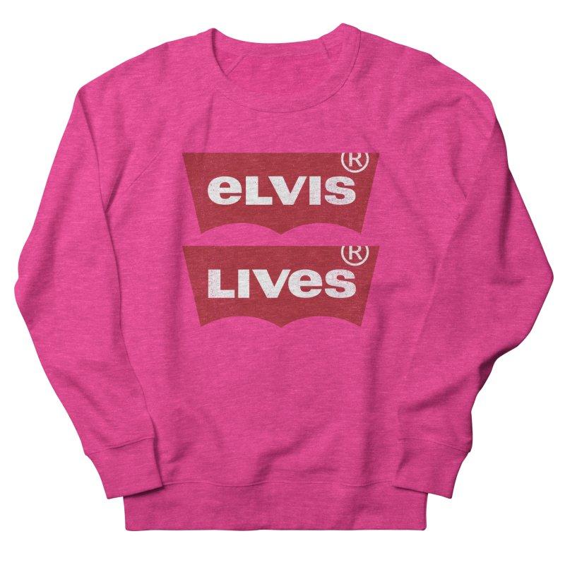 Elvis Lives! - (v2) Men's French Terry Sweatshirt by mrdelman's Artist Shop