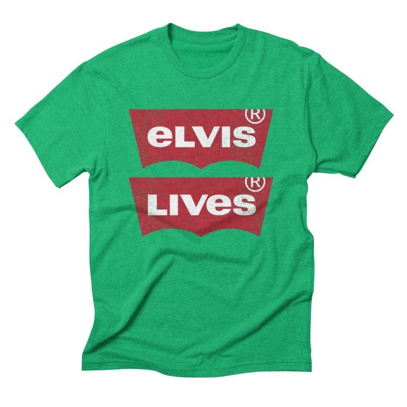 Elvis Lives! - (v2) Men's Triblend T-Shirt by mrdelman's Artist Shop