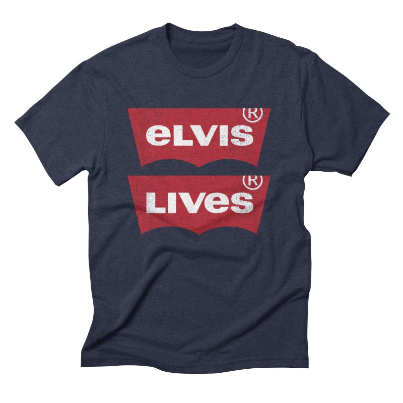 Elvis Lives! - (v2) Men's T-Shirt by mrdelman's Artist Shop